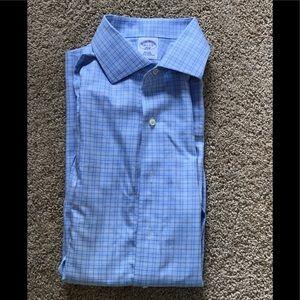 Brooks Brothers men's 16.5 blue cotton casualshirt